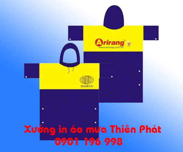 Sản xuất áo mưa in logo, in hình ảnh lên áo mưa cánh dơi, áo mưa nhựa rạng đông, in áo mưa quảng cáo tại TPHCM. LH : 0901 196 998
