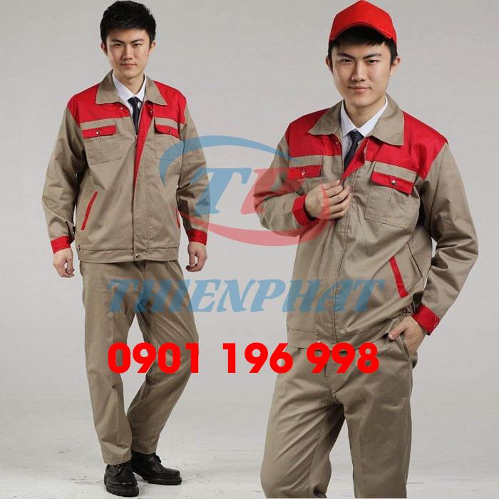 Tìm địa chỉ may quần áo công nhân kỹ thuật giá rẻ theo yêu cầu, sản xuất quần áo công trình xây dựng in logo đẹp