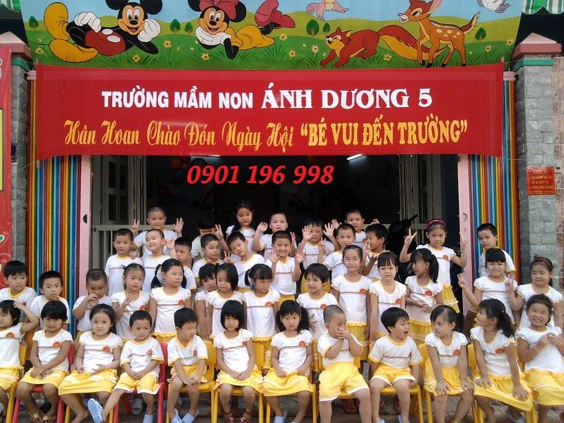 Sản xuất đồng phục áo thun cho bé trường mẫu giáo trên toàn quốc