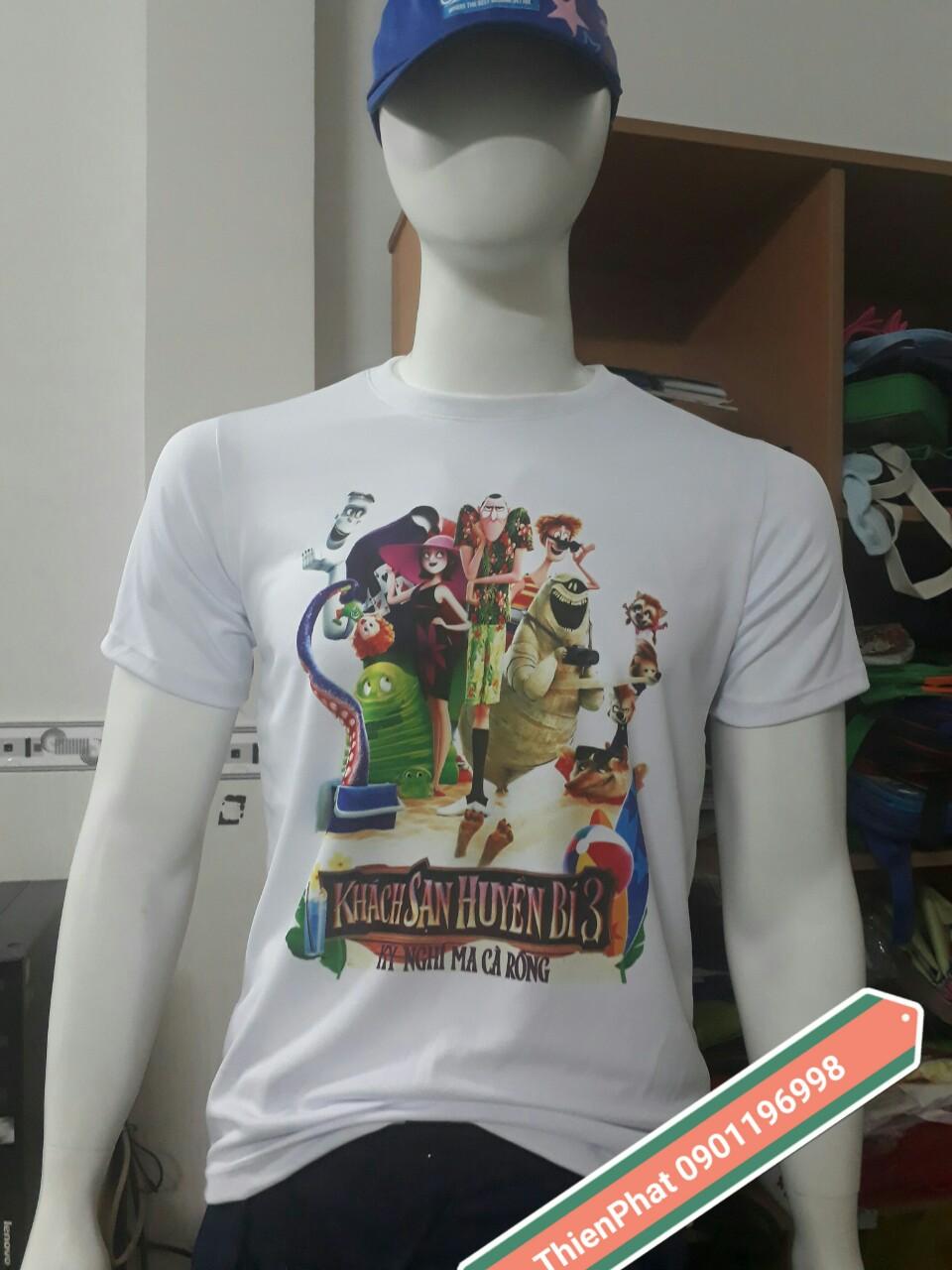 sản xuất áo thun in 3d, áo thun game, áo thun in hình phim, áo thun in thần tượng