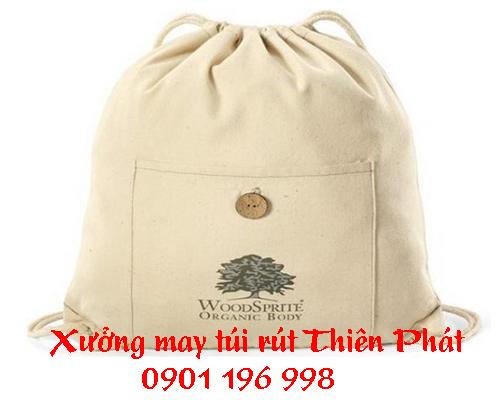 In túi rút vải bố, túi rút dây giá rẻ, túi rút in logo theo yêu cầu. LH : 0901 196 998