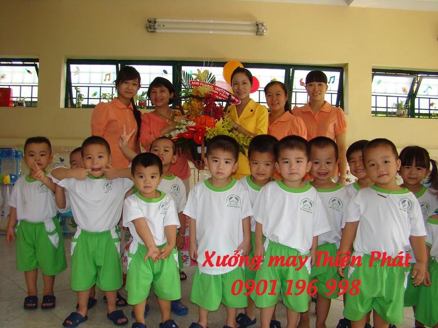 Cơ sở sản xuất đồng phục mầm non chuyên may đồng phục cho các trường mầm non, trường mẫu giáo trên toàn quốc