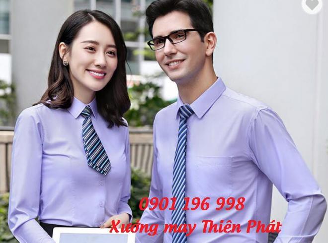 Địa chỉ may áo sơ mi đồng phục văn phòng dài tay giá rẻ