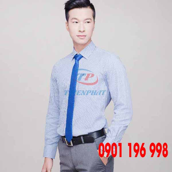 Địa chỉ sản xuất áo sơ mi đồng phục công ty, may áo sơ mi văn phòng theo yêu cầu