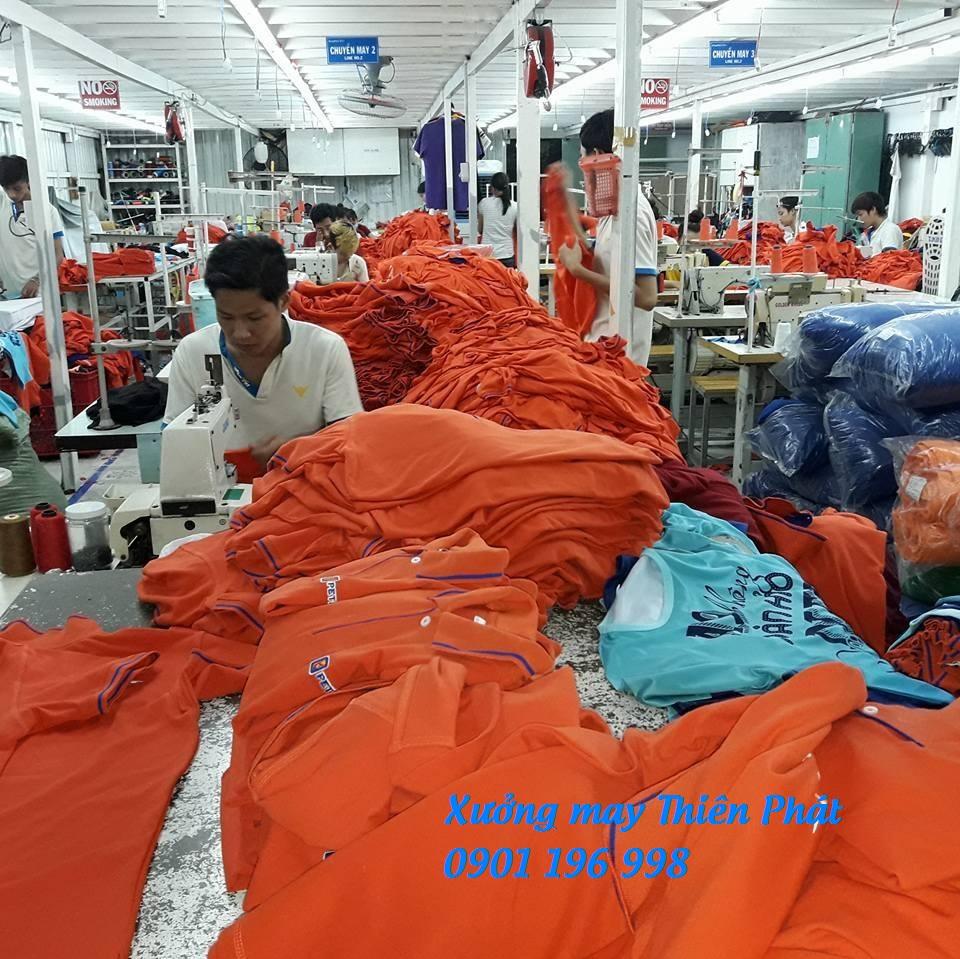 Xưởng may gia công áo thun cá sấu giá rẻ tại Tân Phú
