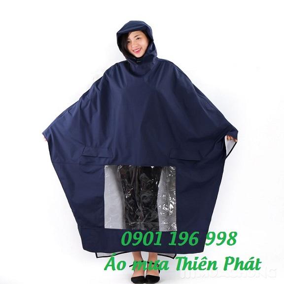 Sản xuất áo mưa chữ a có kiếng đèn, sản xuất áo mưa vải dù tổ ong giá rẻ