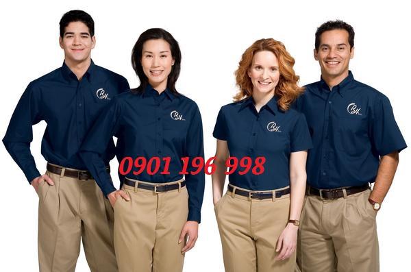 Chuyên sản xuất áo sơ mi đồng phục, may gia công áo sơ mi văn phòng công sở giá tốt