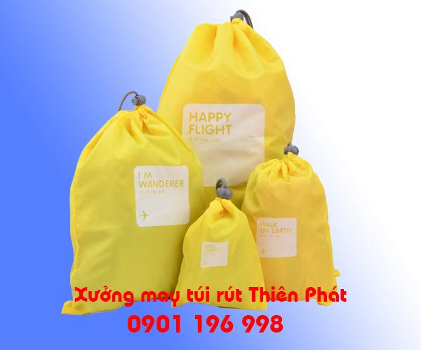 Xưởng may túi rút tại TPHCM, may túi rút tại Bình Dương, Sản xuất túi rút chống thấm nước giá rẻ. LH : 0901 196 998
