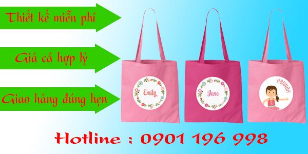 Túi vải bố, may túi vải bố tại TPHCM, cơ sở may túi vải bố giá rẻ